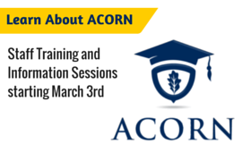 ACORN staff training and information sessions starting March 3rd