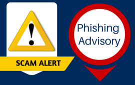 Scam Alert, Phishing Advisory.
