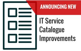 ITS Catalogue Improvements