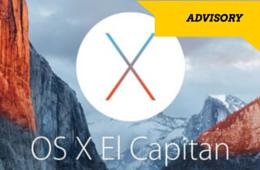 El Capitan OSx 10.11 Upgrade Advisory