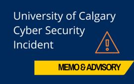 U of Calgary Ransomware Notice