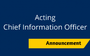 Acting CIO announcement