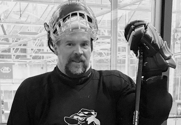 Avi Hyman in hockey attire