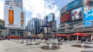 Yonge-Dundas Square in Toronto.