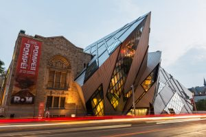 North facade of the Royal Ontario Museum