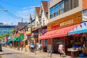 Kensington Market neighbourhood in central Toronto