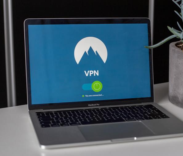 """Laptop showing """"VPN"""" on screen"""