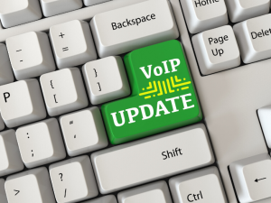 keyboard with key that says: VOIP Update