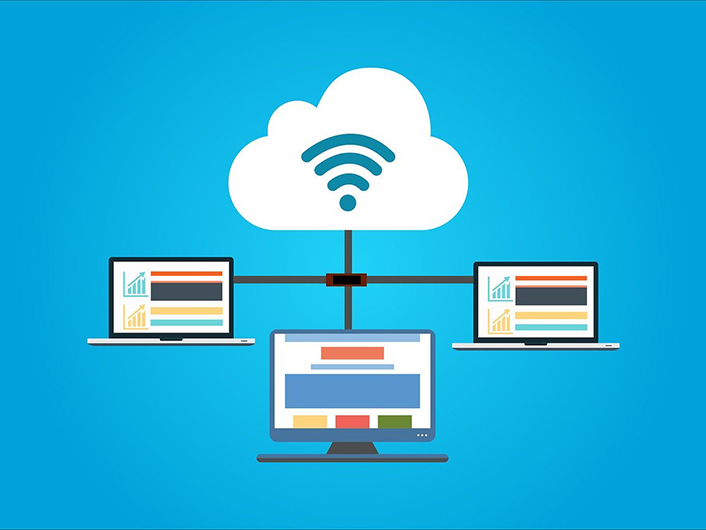 Graphic of cloud computing