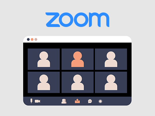Graphic of people on Zoom call