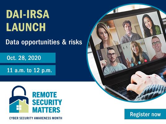 CSAM DAI-IRSA launch promotion banner (Oct. 28, 2020)