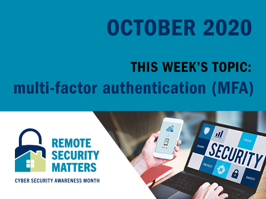 CSAM promotion banner on multi-factor authentication