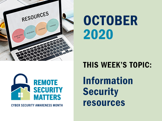 CSAM: Information Security resources