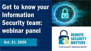 CSAM Information Security webinar panel promotion banner (Oct. 21, 2020)