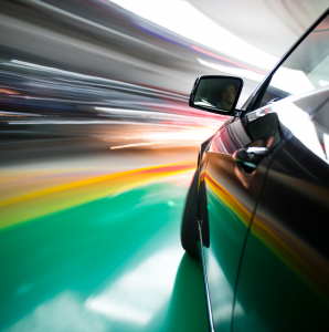 Abstract image of car in movement