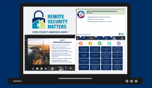 Screenshot of CSAM 2020 activities