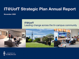 IT@UofT Strategic Plan Annual Report cover