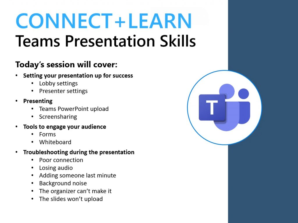 Screenshot of past Connect+Learn session