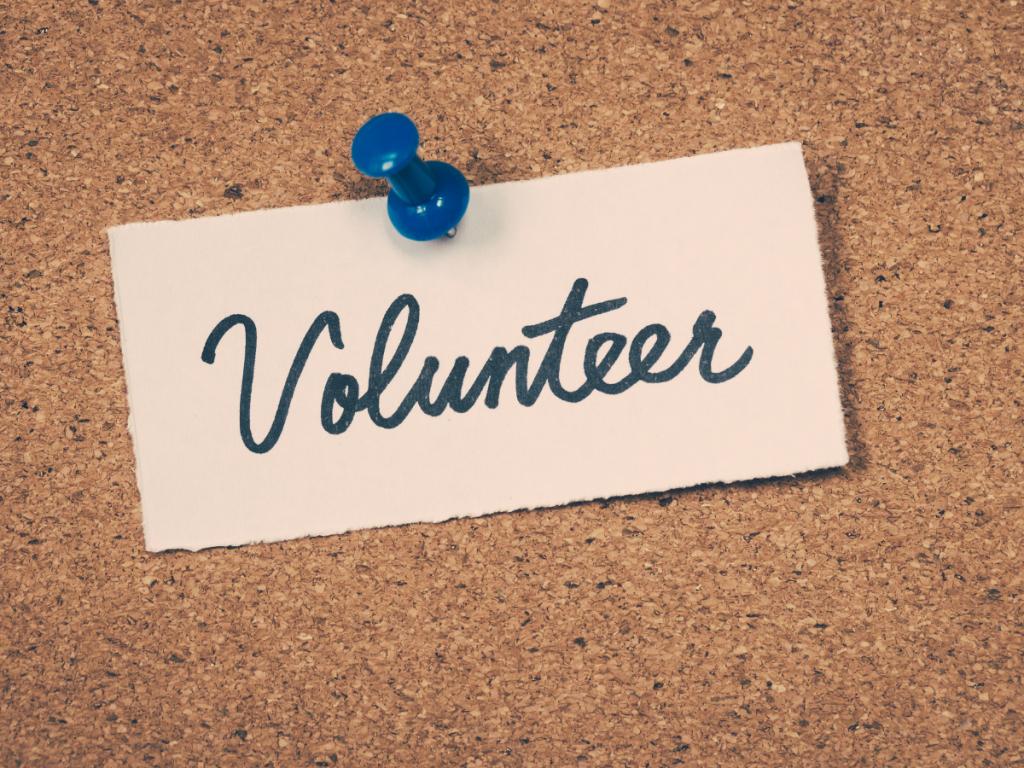 Volunteer text - banner