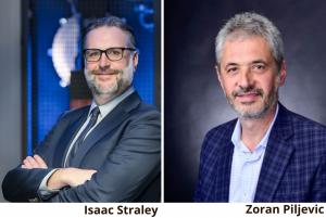 Headshots of Isaac Straley and Zoran Piljevic