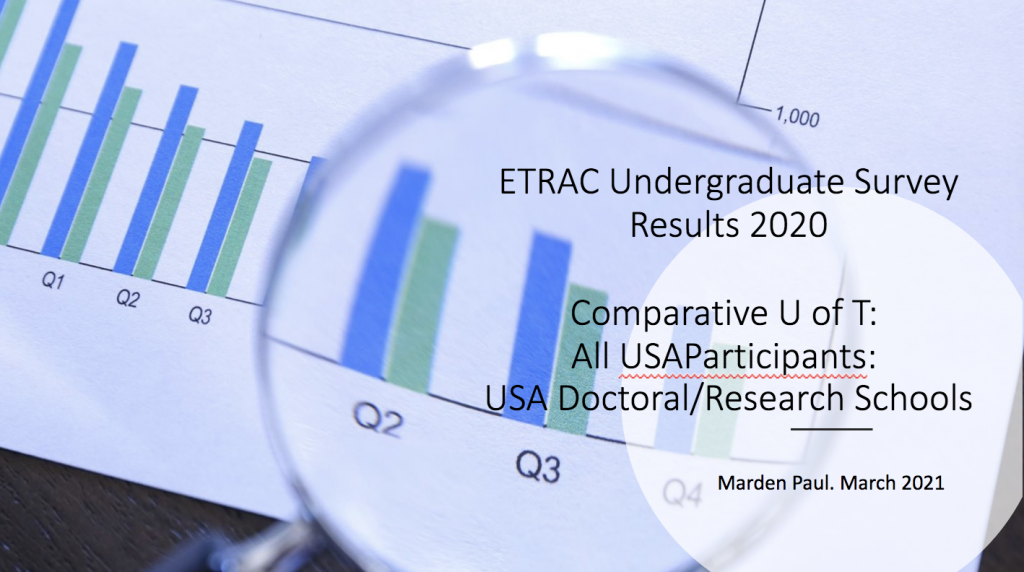 ETRAC survey cover