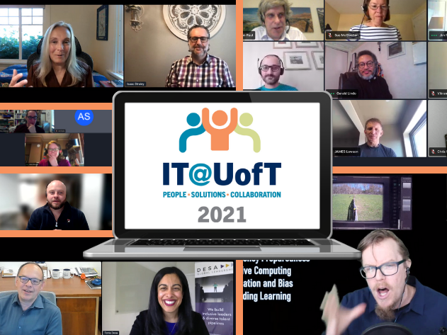 Collage of speakers from IT@UofT 2021