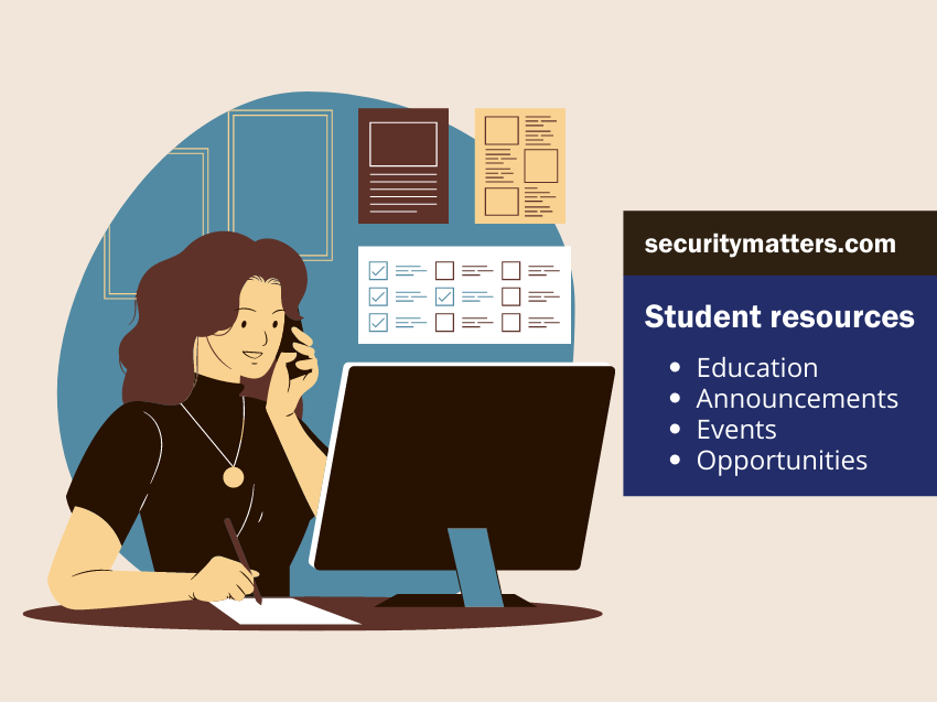 Banner for promoting student resources on the Security Matters website.