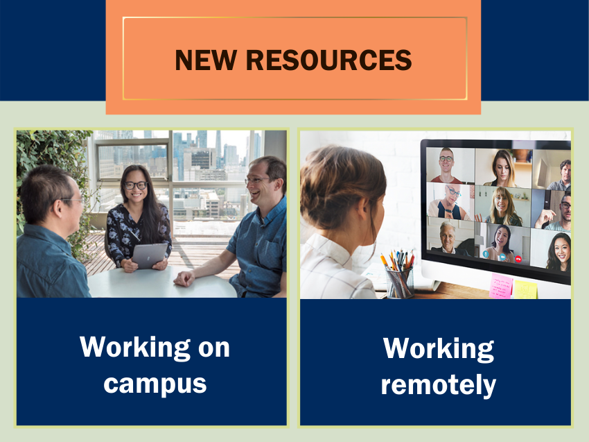 Banner promoting new resources for your workplace environment