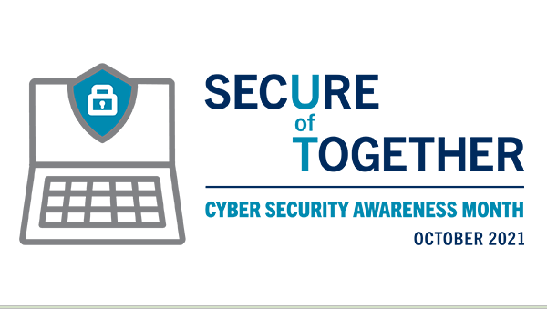 Logo for Cyber Security Awareness Month October 2021.